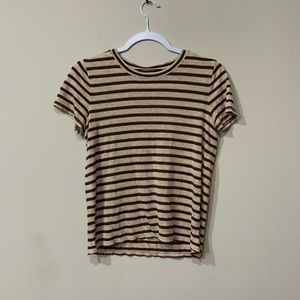 Madewell gold speckled stripe t shirt